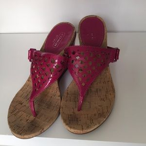 Authentic coach sandals size 8